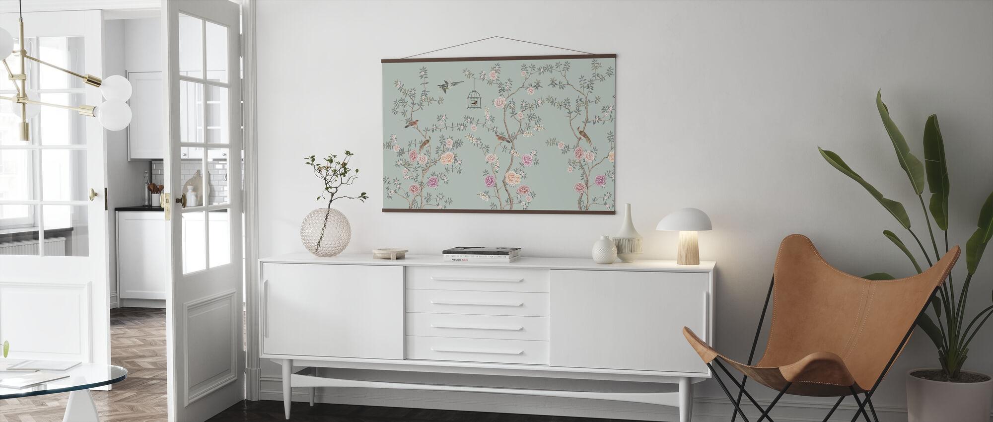 Birds Fairyland - Emerald - Poster - Living Room