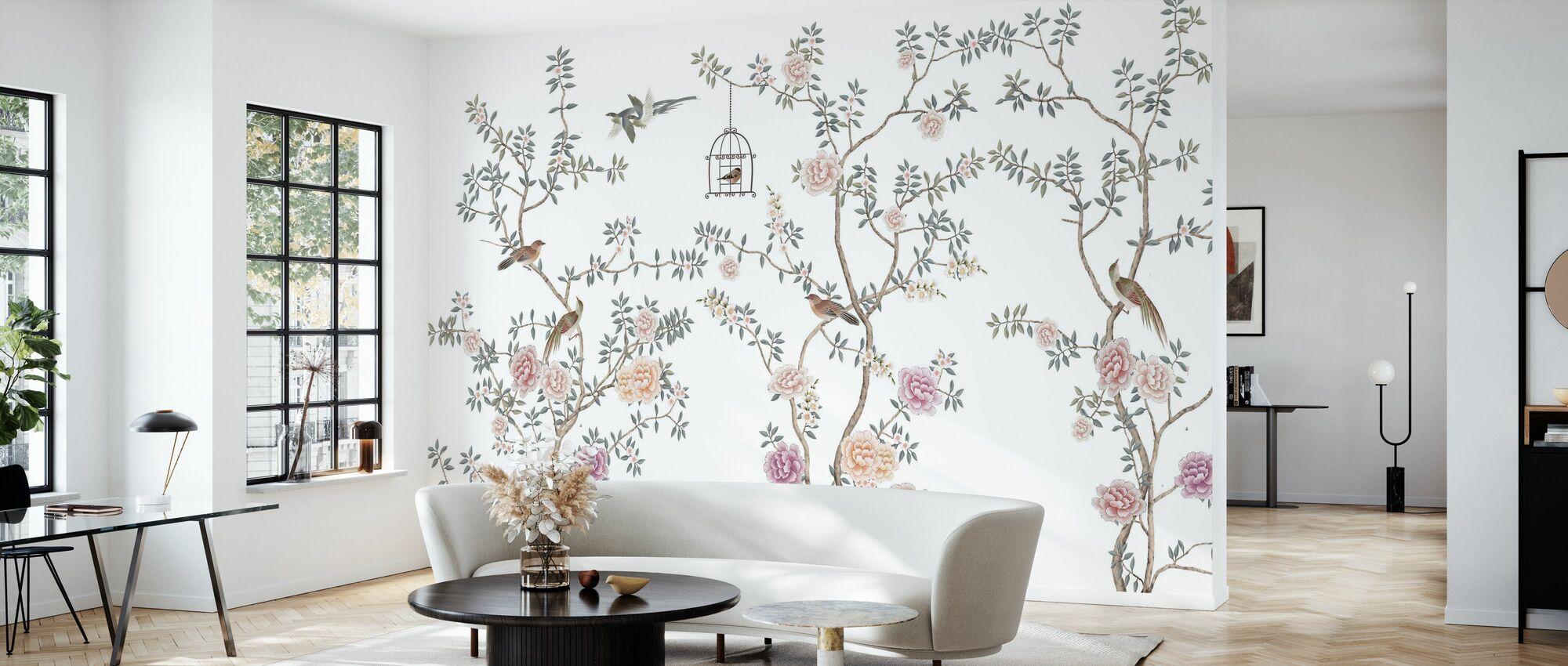 Fåglar Fairyland - Tapet - Vardagsrum