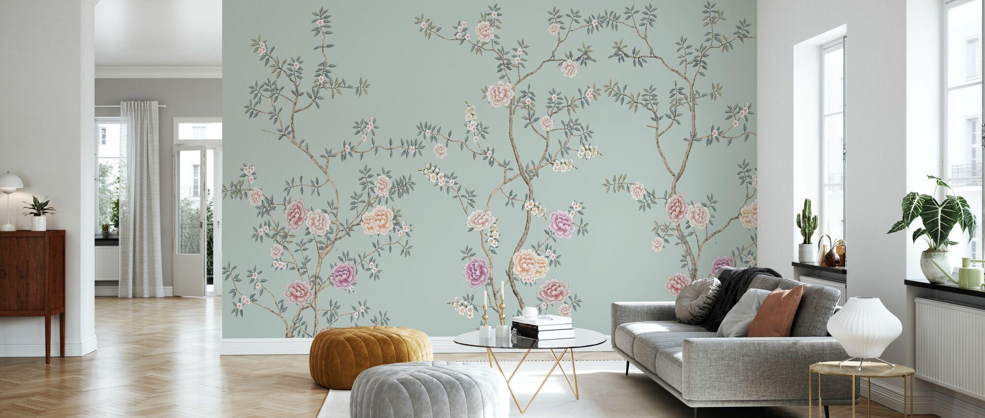 Vegetables - Emerald - Wallpaper - Living Room