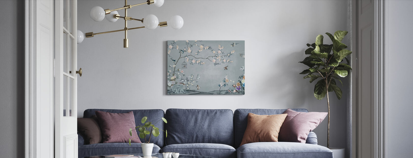 Birds Eden - Canvas print - Living Room