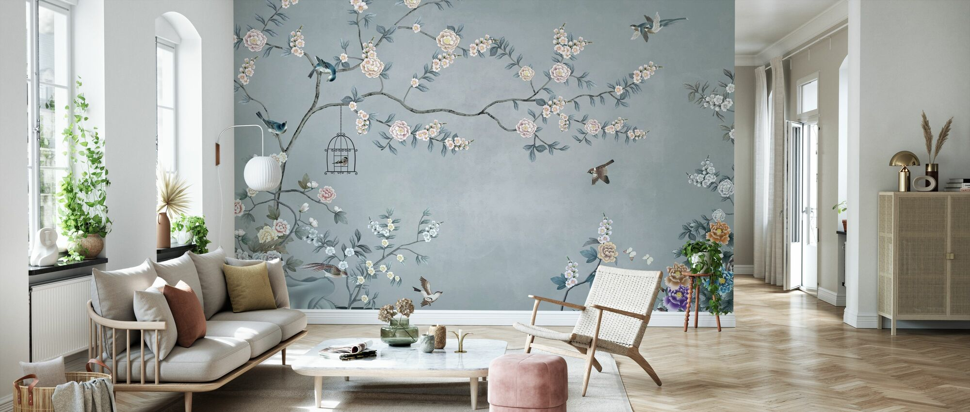 Birds Eden - Wallpaper - Living Room
