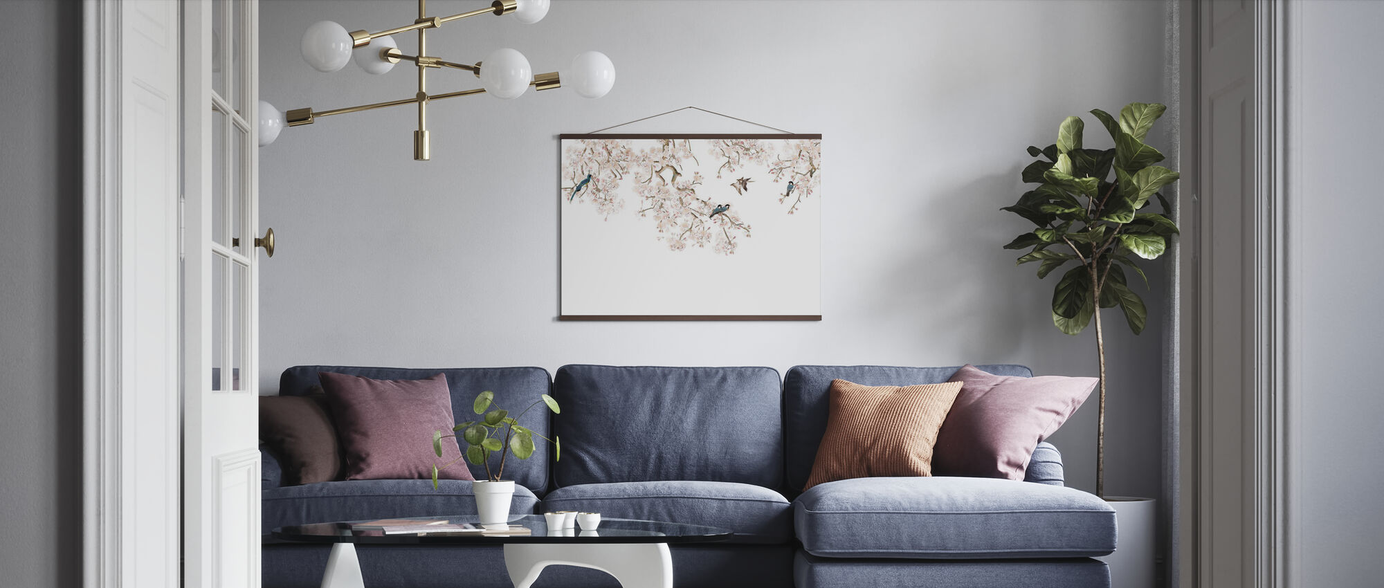 Birds Hangout - Poster - Living Room