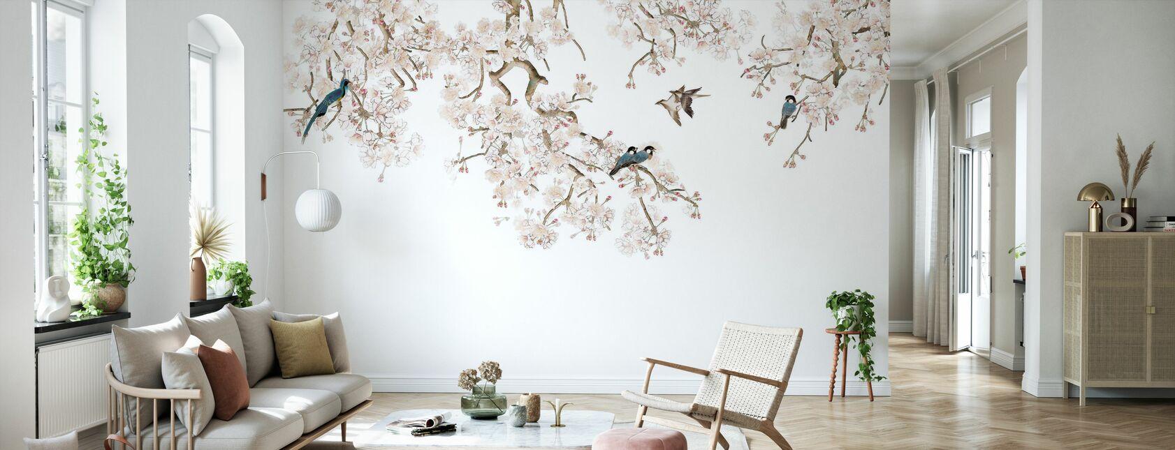 Vogels Hangout - Behang - Woonkamer