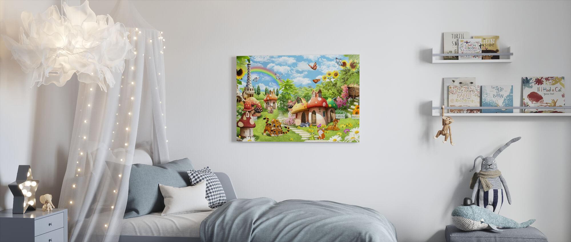 Sponge Village - Canvastavla - Barnrum