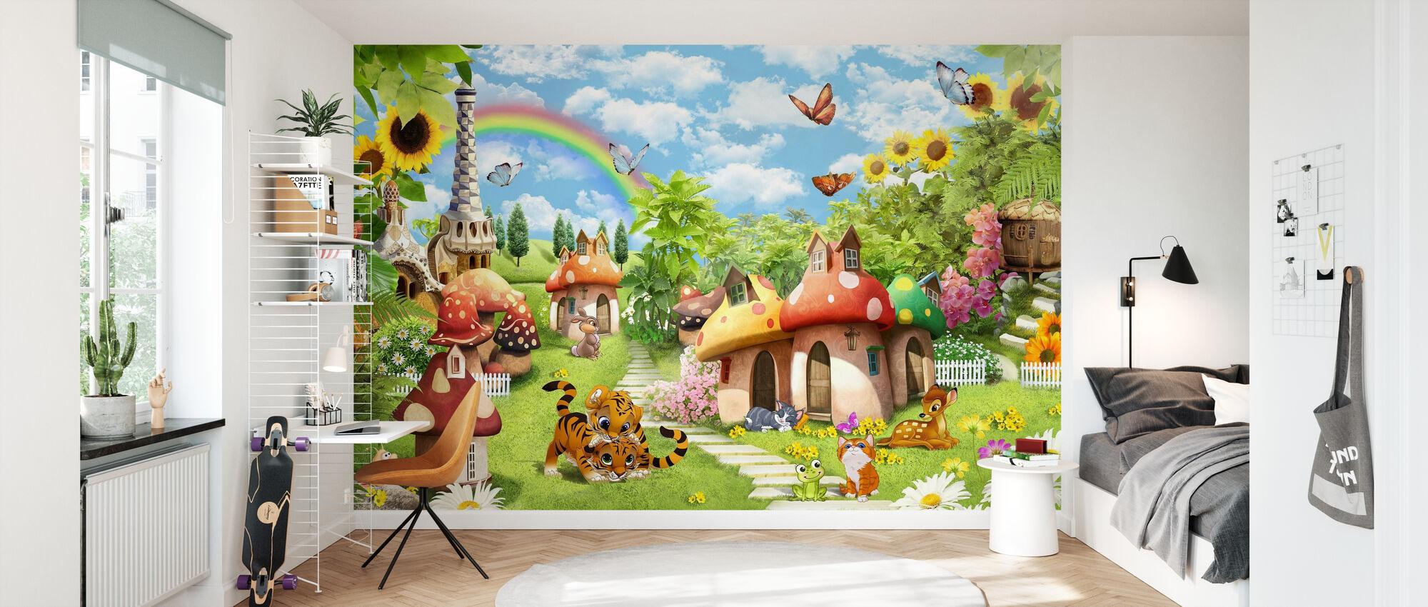 Sponge Village - Wallpaper - Kids Room
