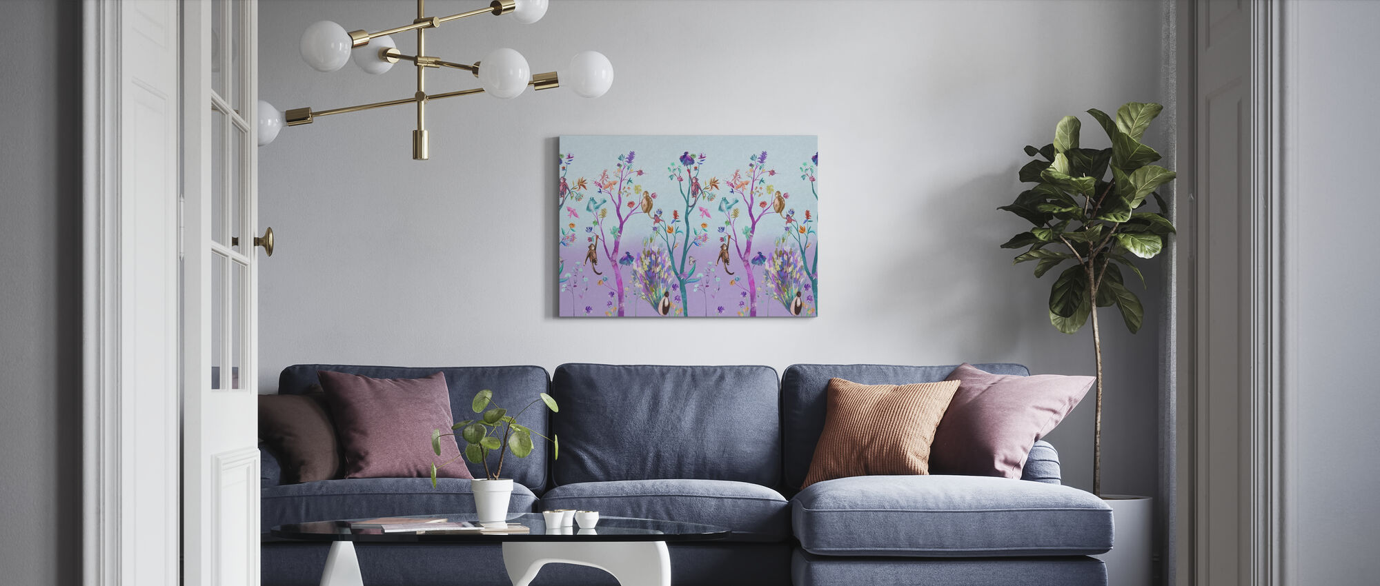 Kitsch Nature - Canvas print - Living Room