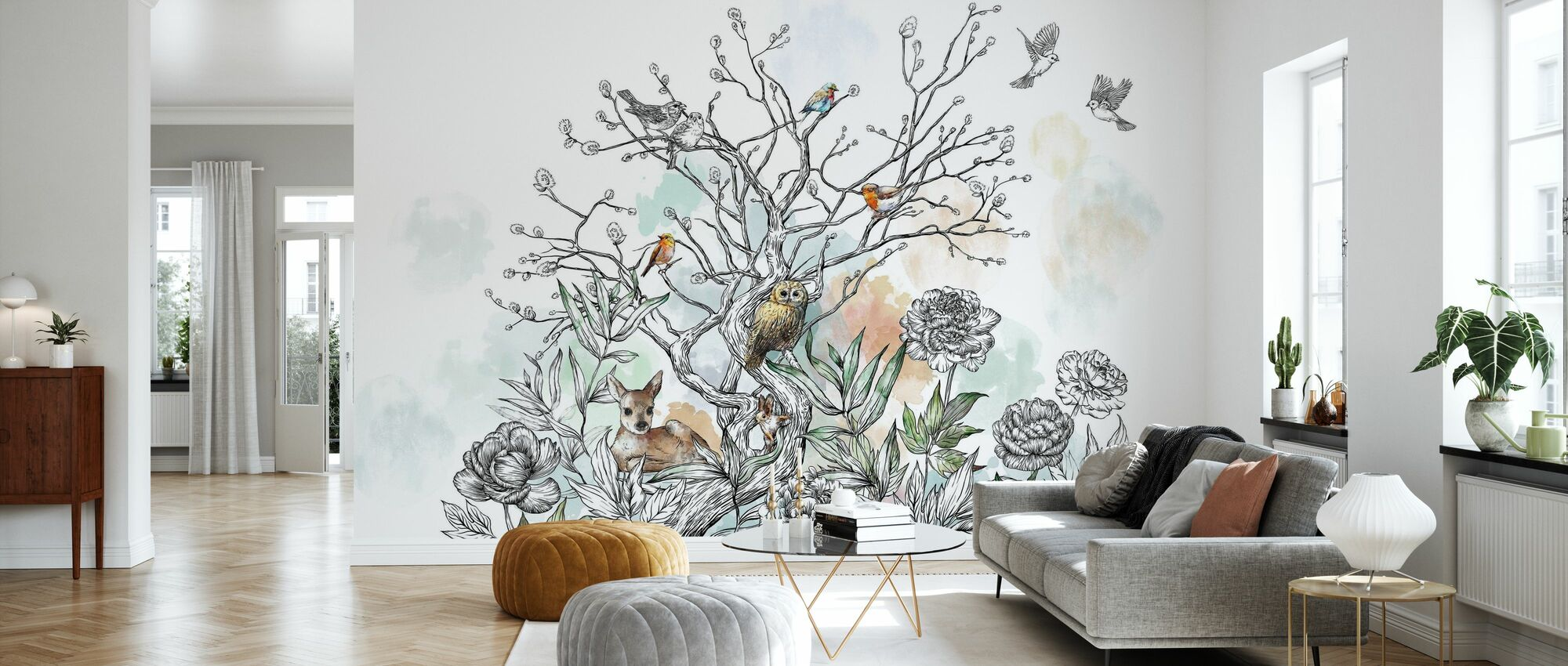 Animal Treet - Tapet - Stue