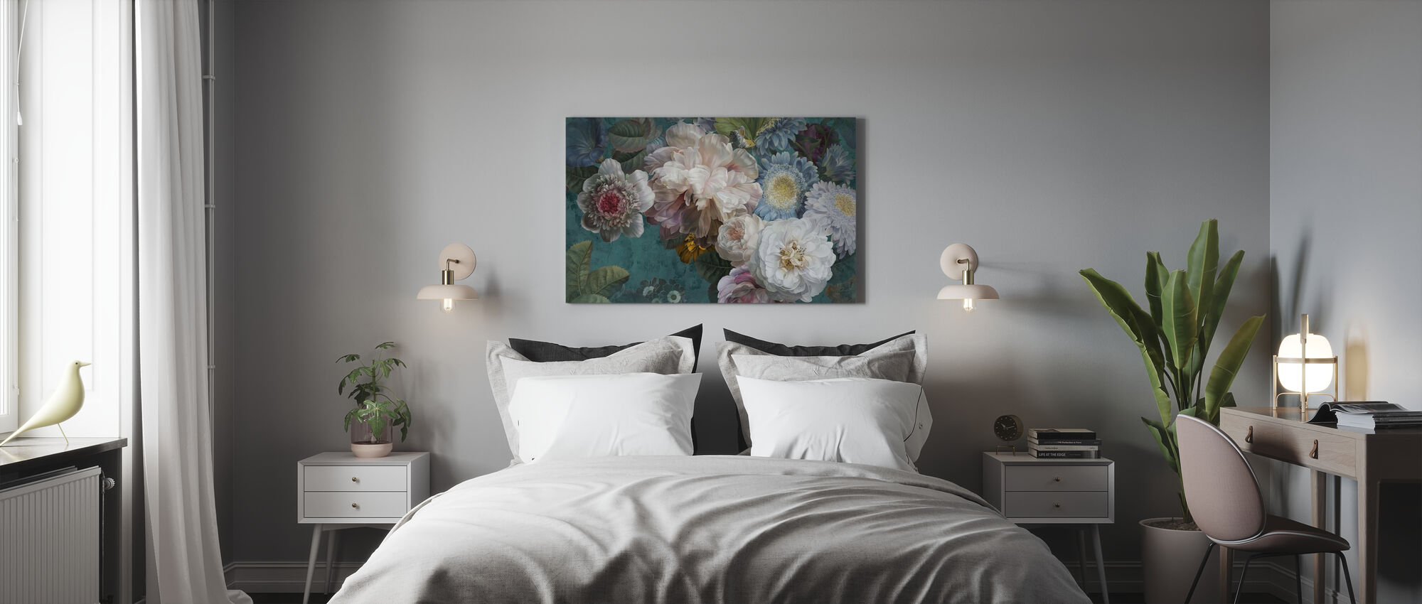 Lustre Arrangement - Smaragd - Canvas print - Slaapkamer