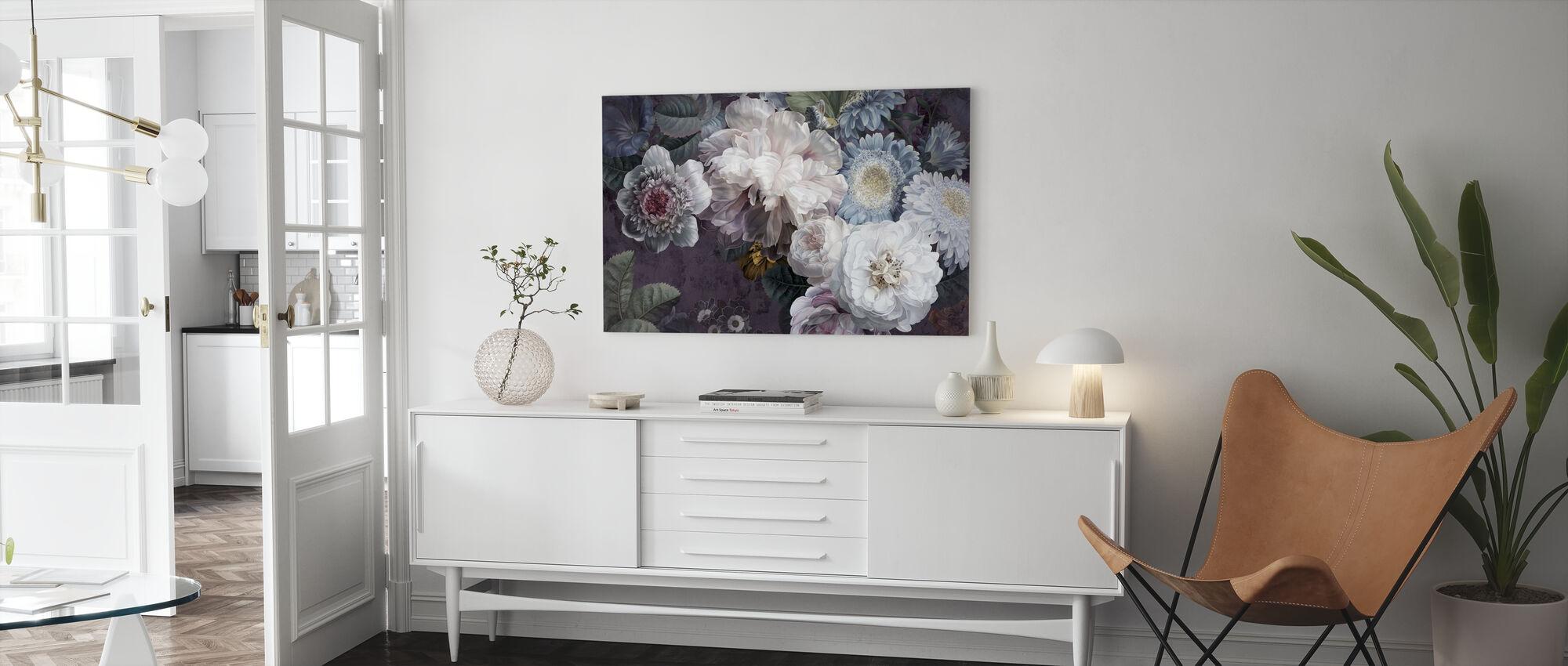 Lustre Arrangement - Purpur - Canvas print - Living Room
