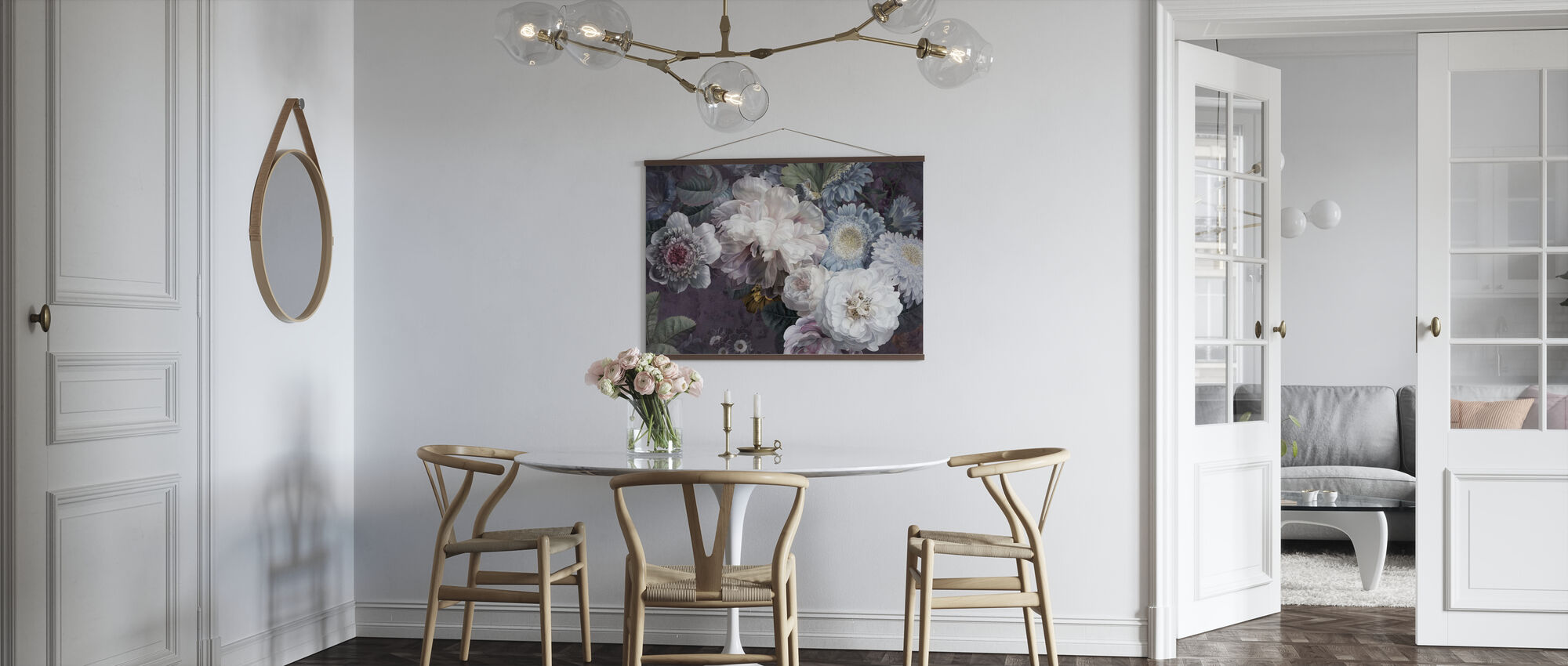 Lustre Arrangement - Purpur - Poster - Küchen