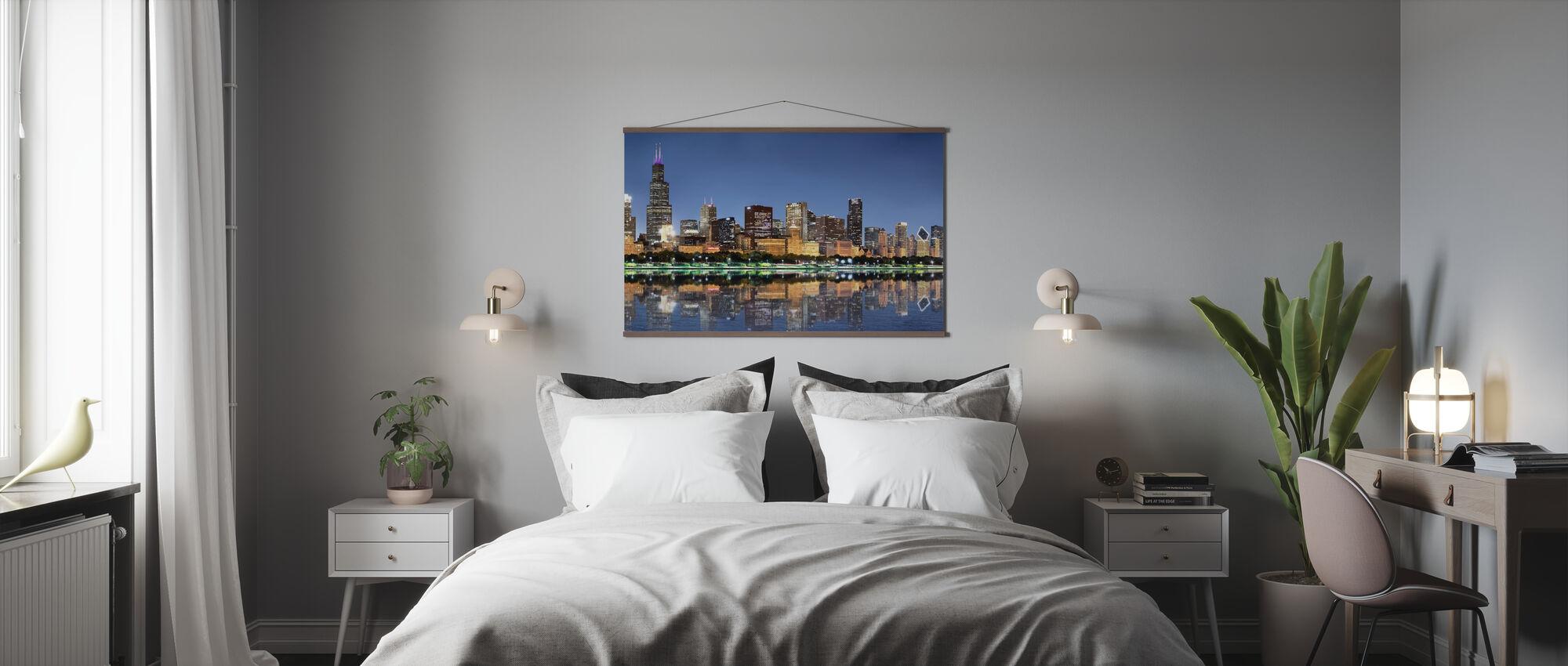 Chicago Skyline - Poster - Bedroom