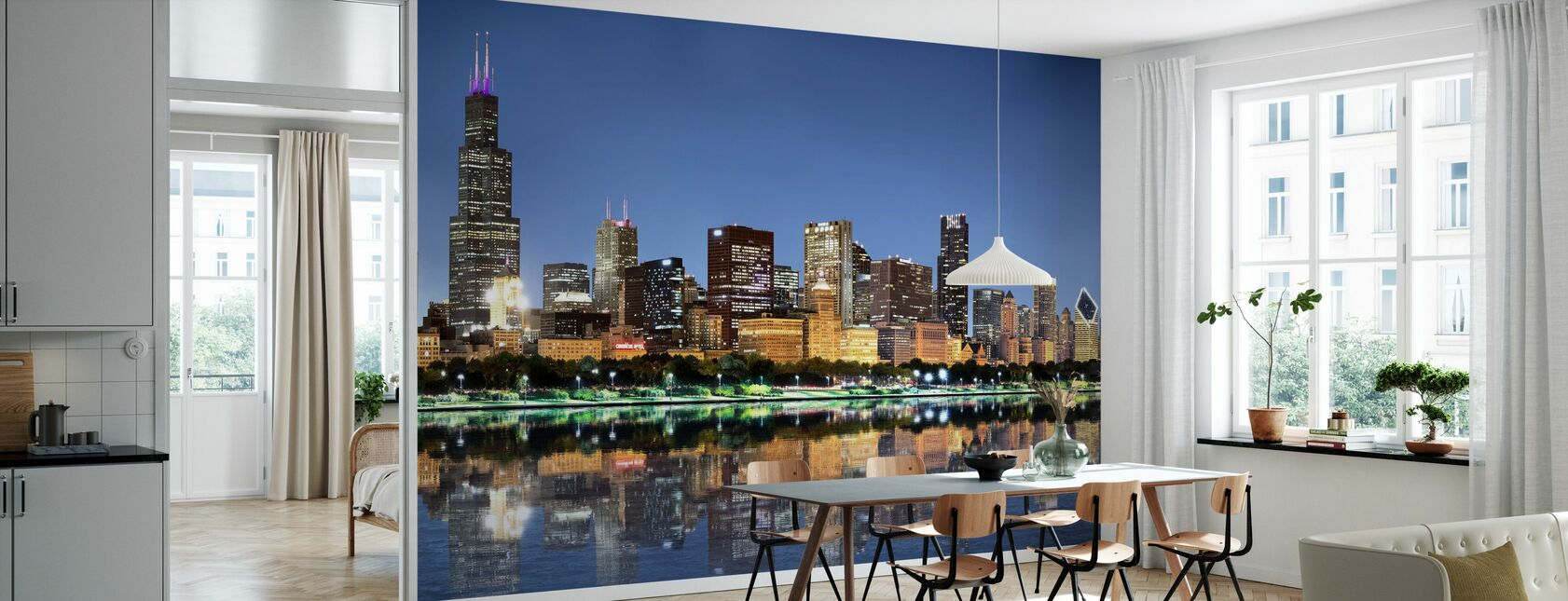 Chicago Skyline - Wallpaper - Kitchen