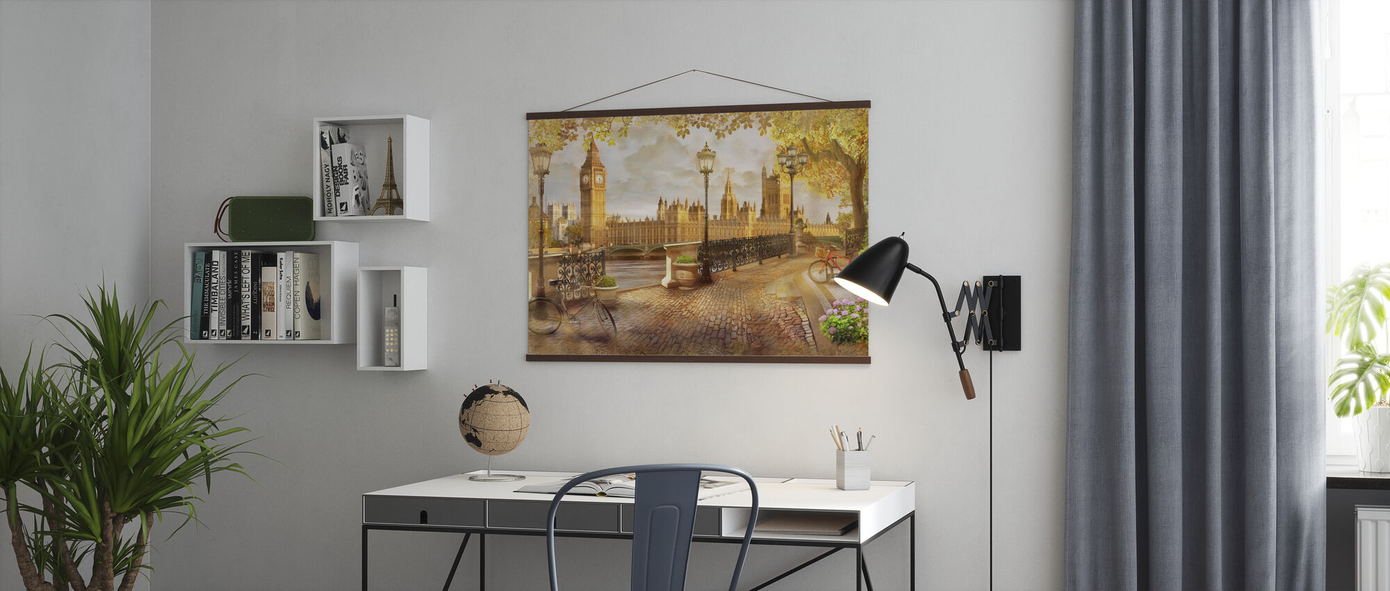 London Big Ben View - Poster - Kantoor