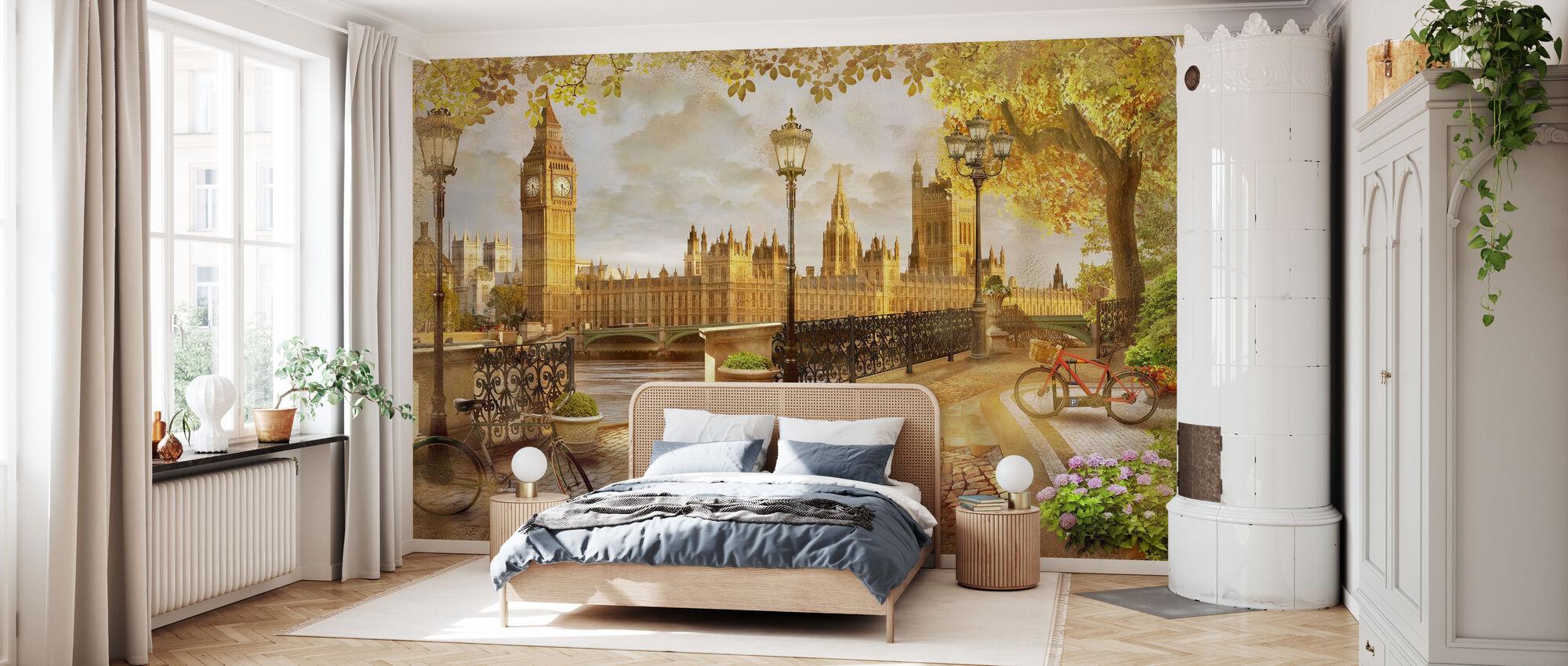 London Big Ben Utsikt - Tapet - Soverom