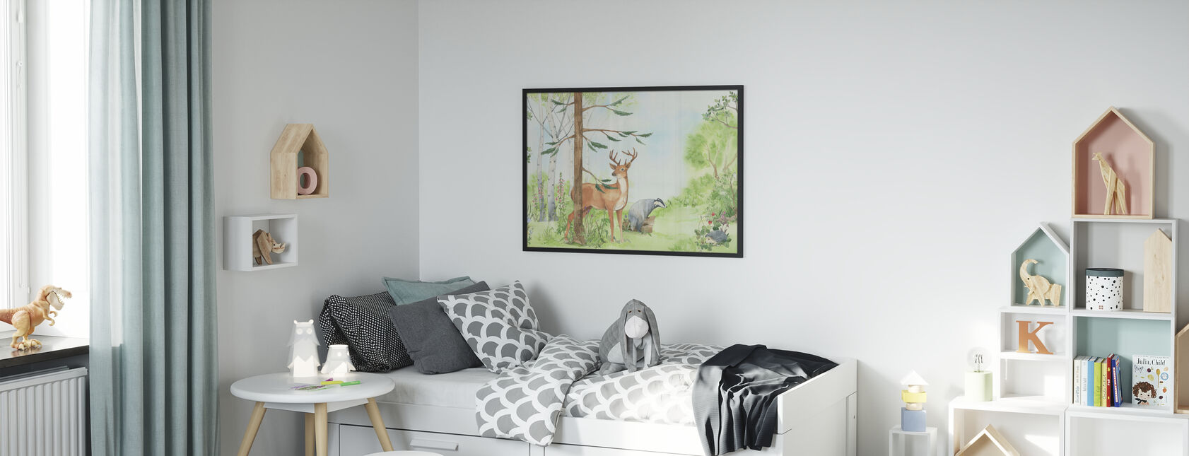 Bos Animal Vrienden - Poster - Kinderkamer