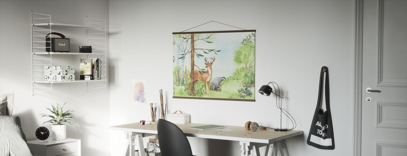 Bos Animal Vrienden - Poster - Kantoor