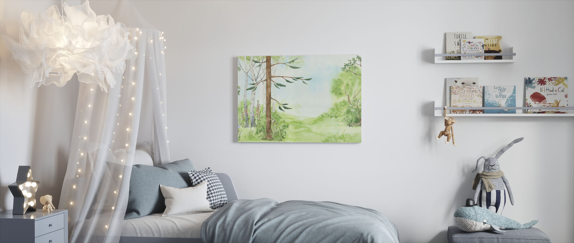Forest Pathway - Canvas print - Kids Room