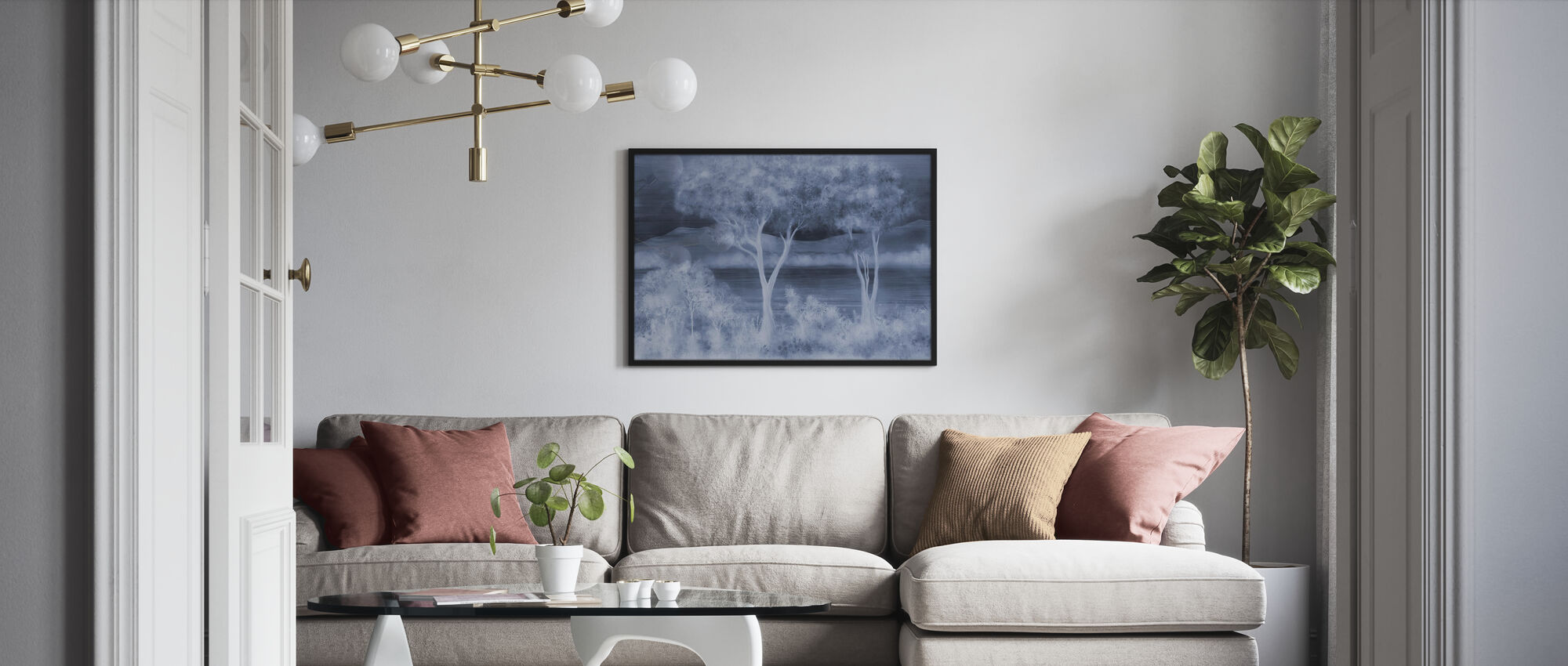 Lay of the Land - Cobalt - Poster - Living Room