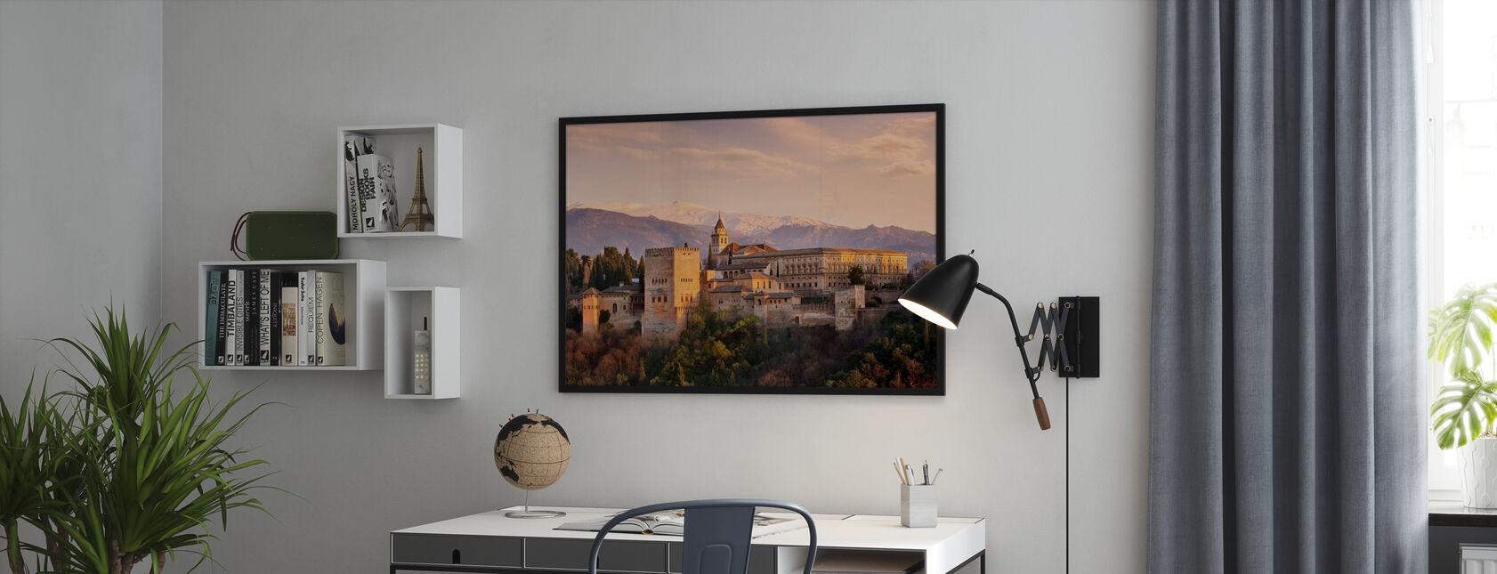 Alhambra in Granada - Ingelijste print - Kantoor