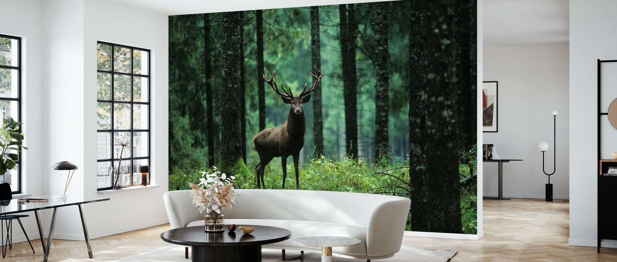 Elg i skog - Tapet - Stue