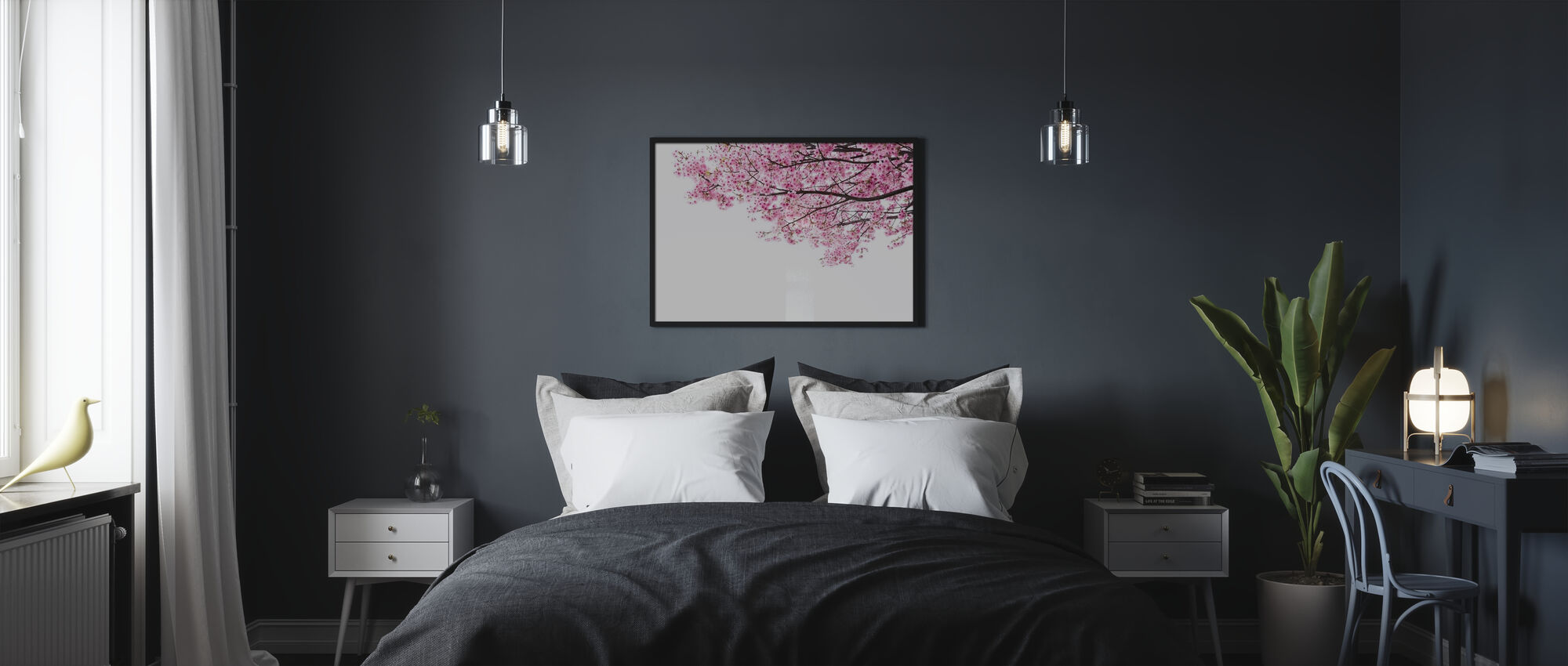 Pink Cherry Blossoms - Poster - Bedroom