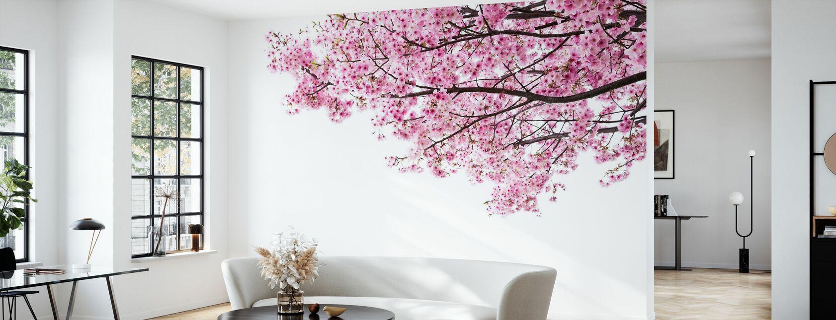 Rosa Kirsebærblomster - Tapet - Stue