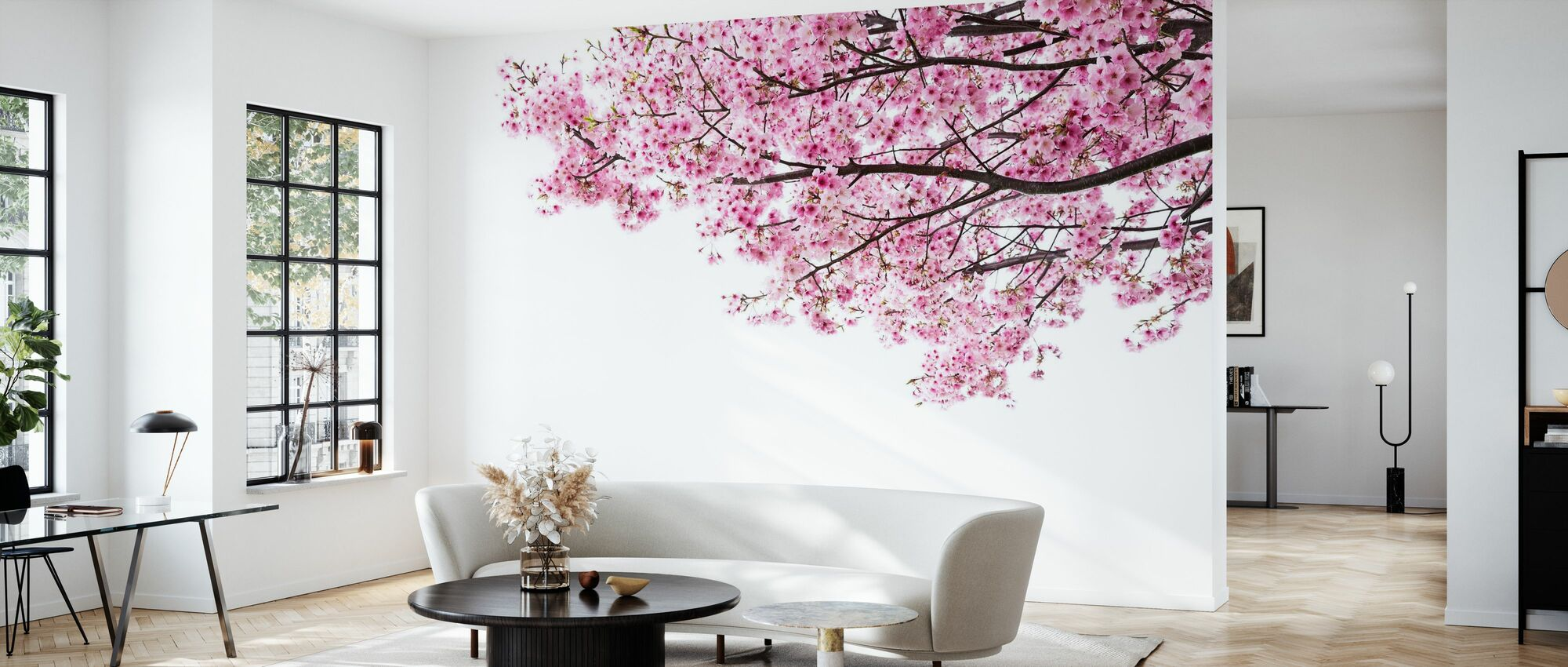 Pink Cherry Blossoms - Wallpaper - Living Room