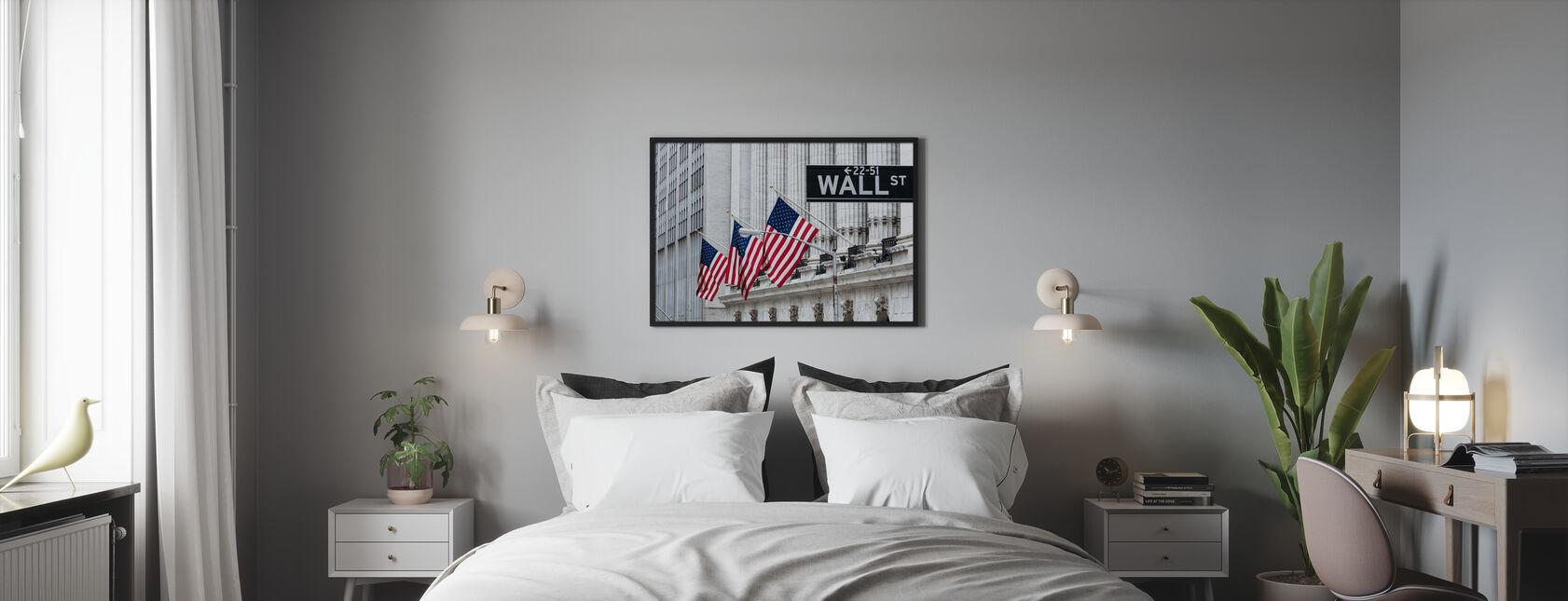 New York Wall Street - Framed print - Bedroom