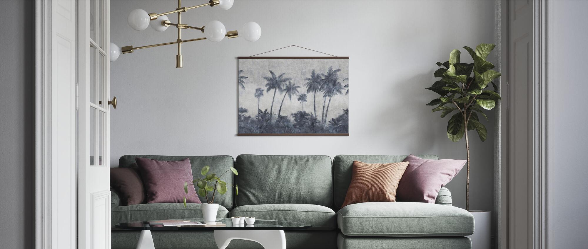 California Palmes on Concrete - Poster - Living Room