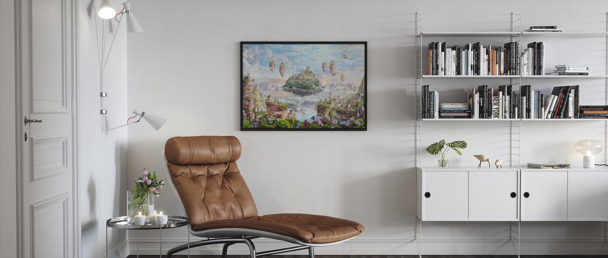 Himmelsschloss - Gerahmtes bild - Wohnzimmer