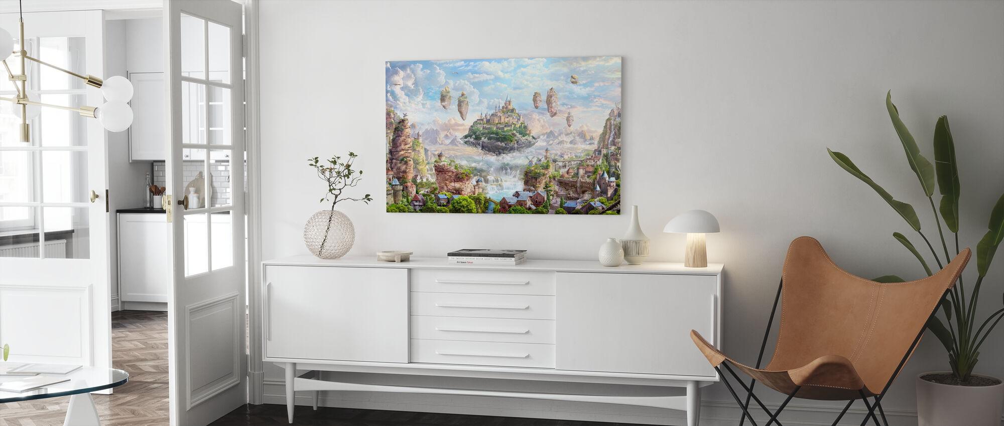 Himmelsschloss - Leinwandbild - Wohnzimmer