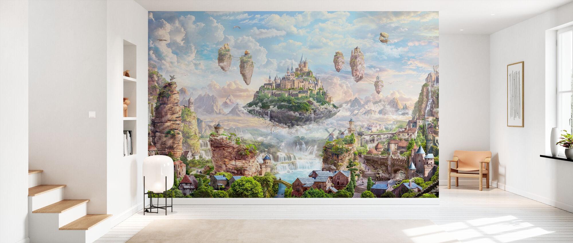 Château du ciel - Papier peint - Entrée