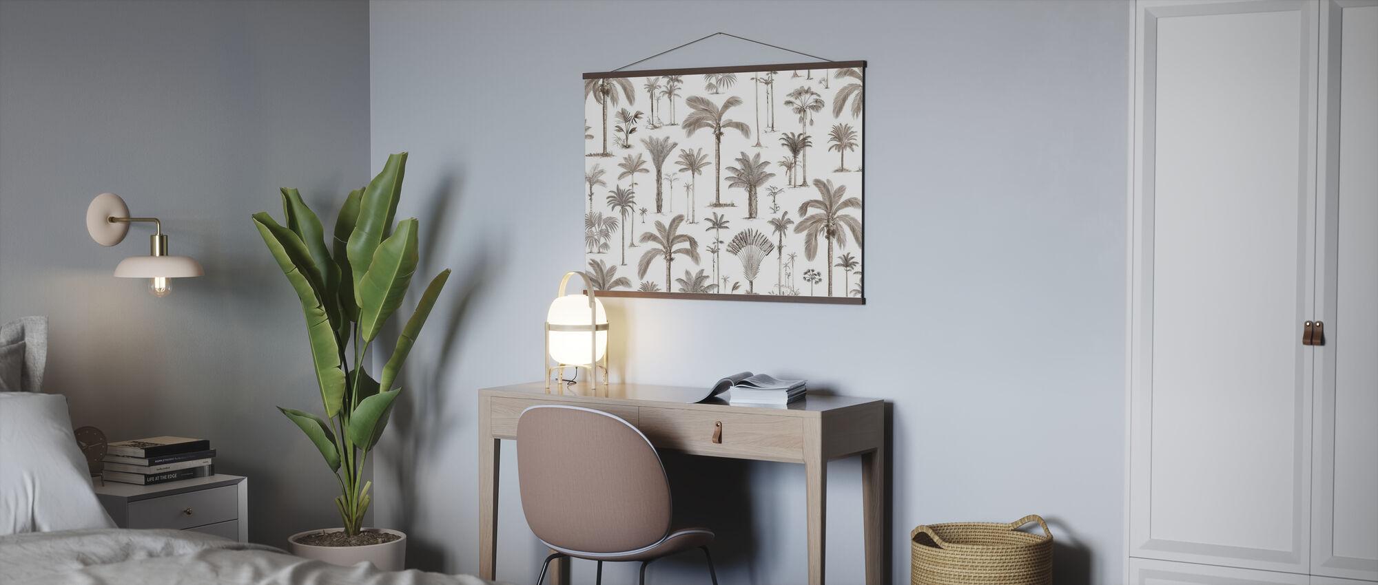 Brasilianske palmer - Sepia - Plakat - Kontor