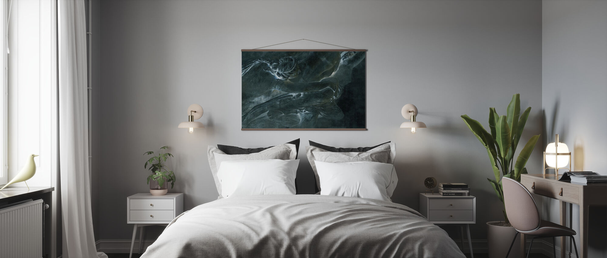 De la Sculpture - Dark Green - Poster - Bedroom