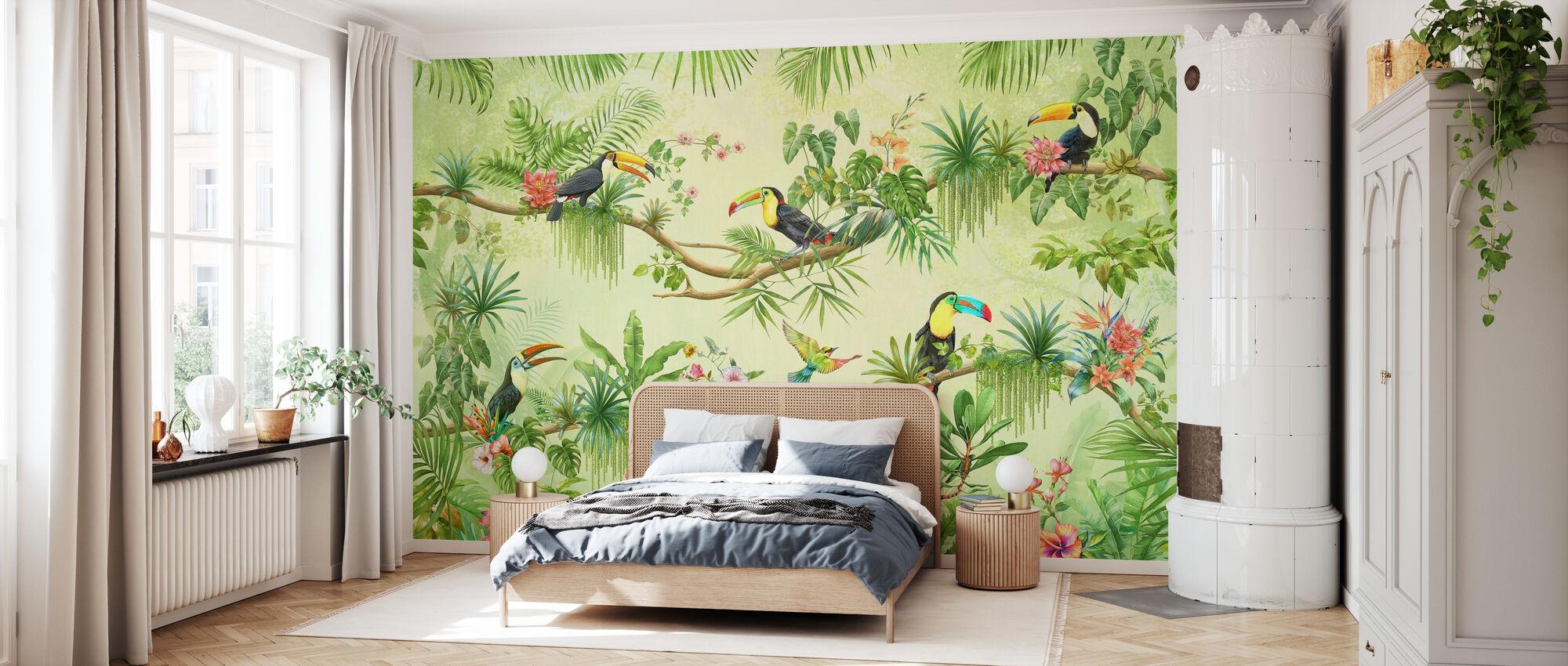 Papagei Freunde - Tapete - Schlafzimmer