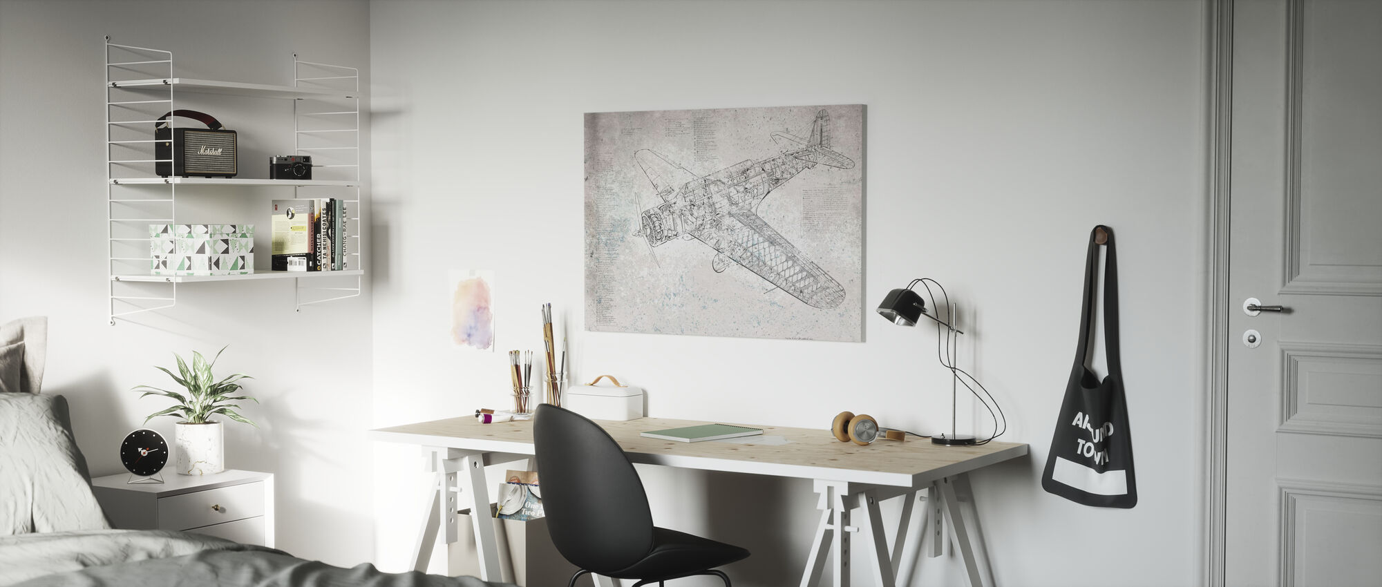 Retro Airplane - Canvas print - Kids Room