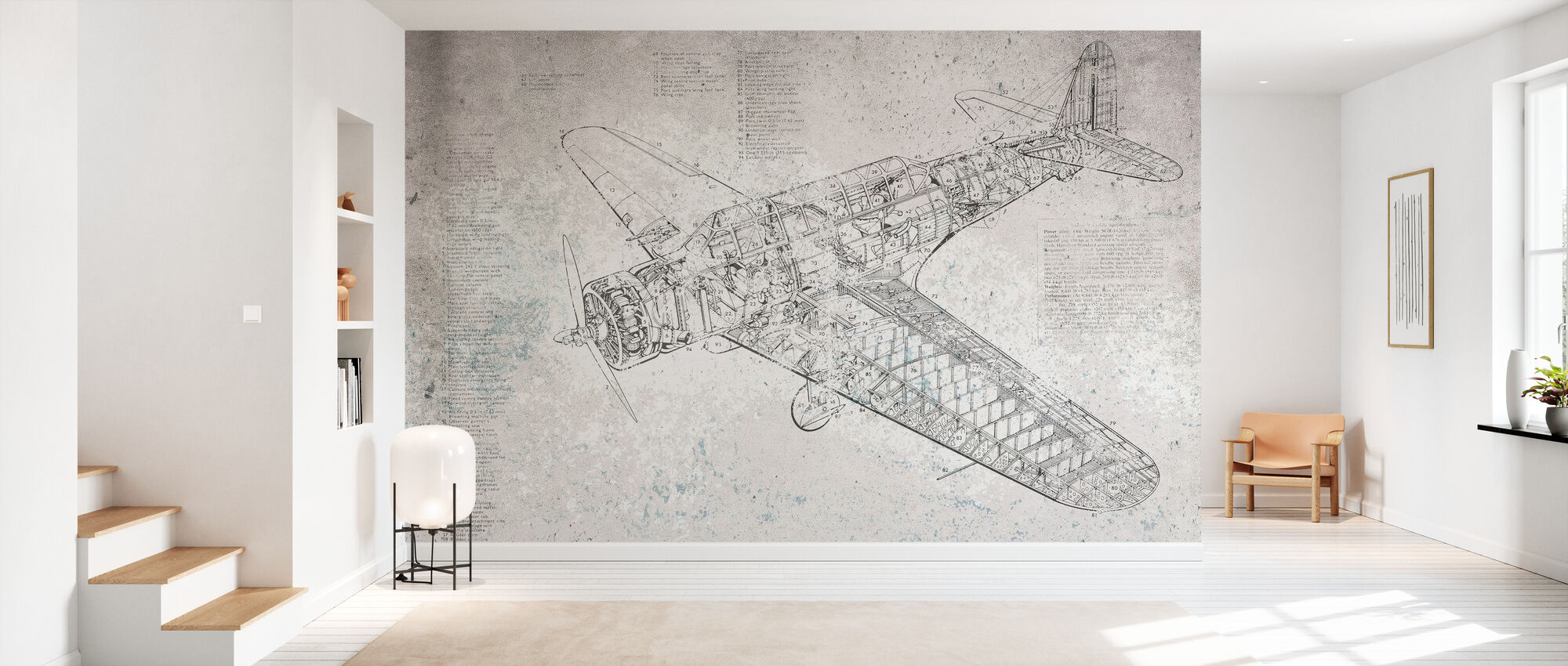 Retro Airplane - Wallpaper - Hallway
