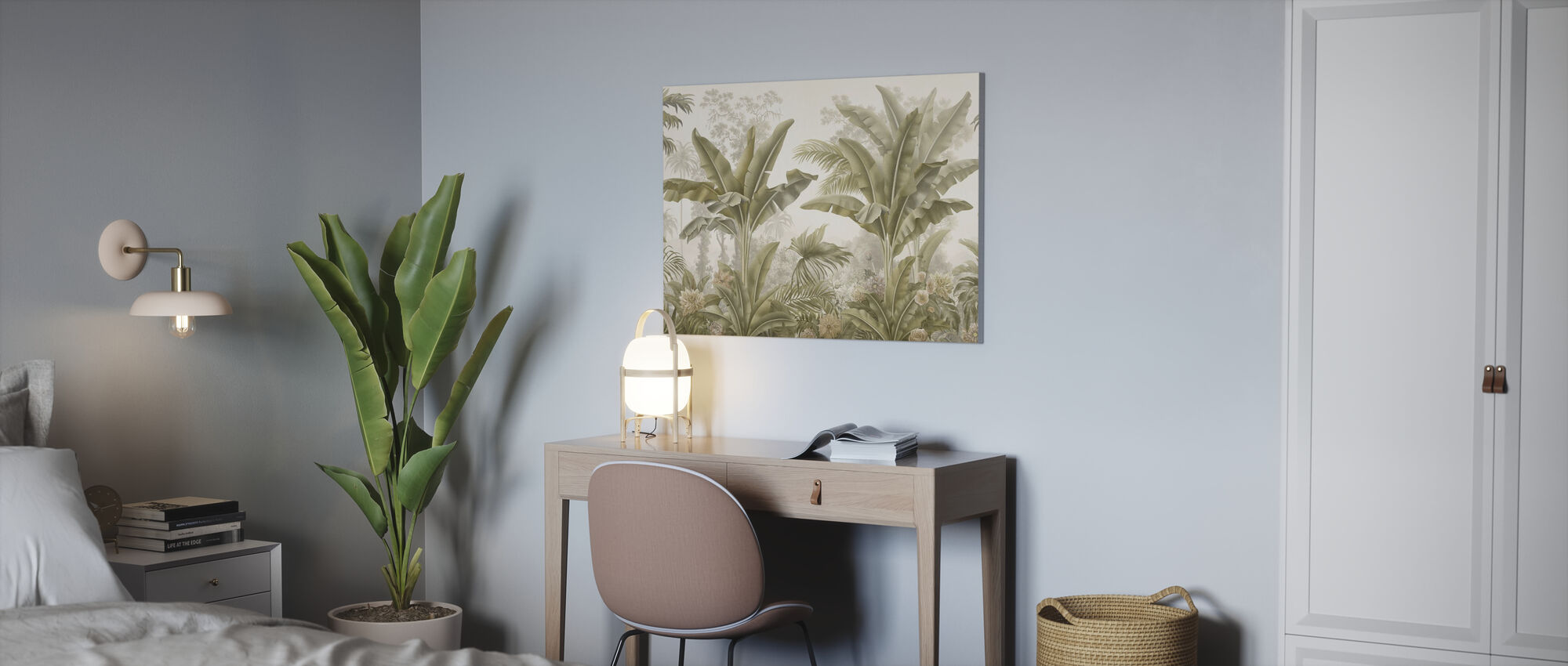 Tropical Bliss - Sepia - Canvas print - Office