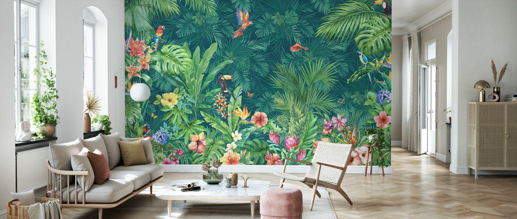 Tropische Harmonie - Tapete - Wohnzimmer