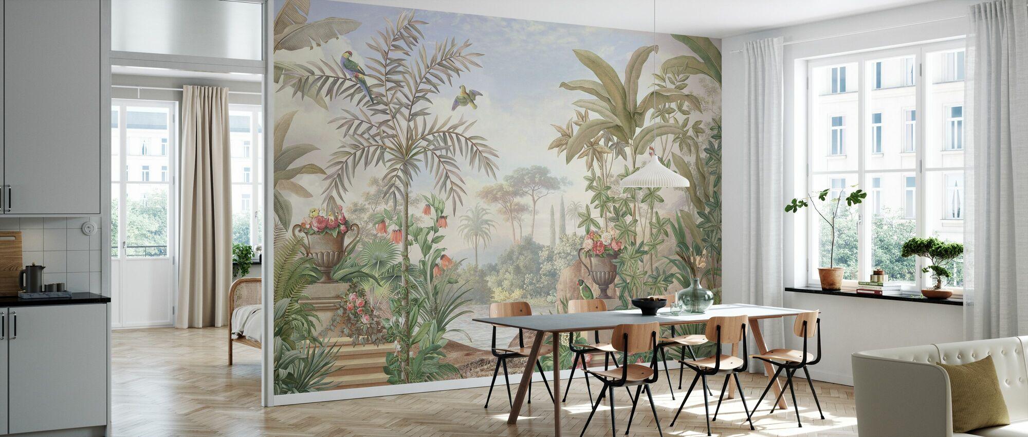 Tropische Terrasse - Tapete - Küchen