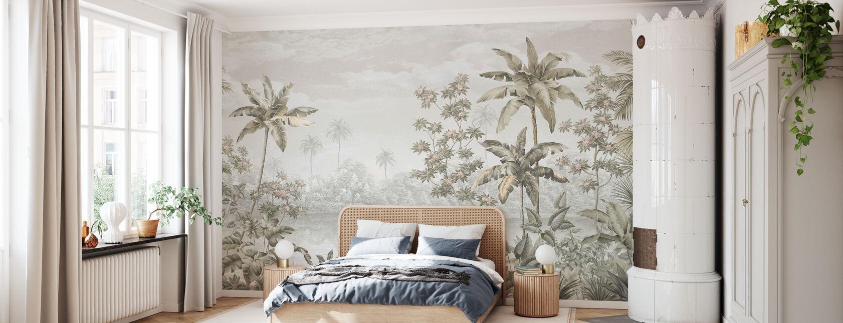 Tropical Shangri-La - Sepia - Papel pintado - Dormitorio