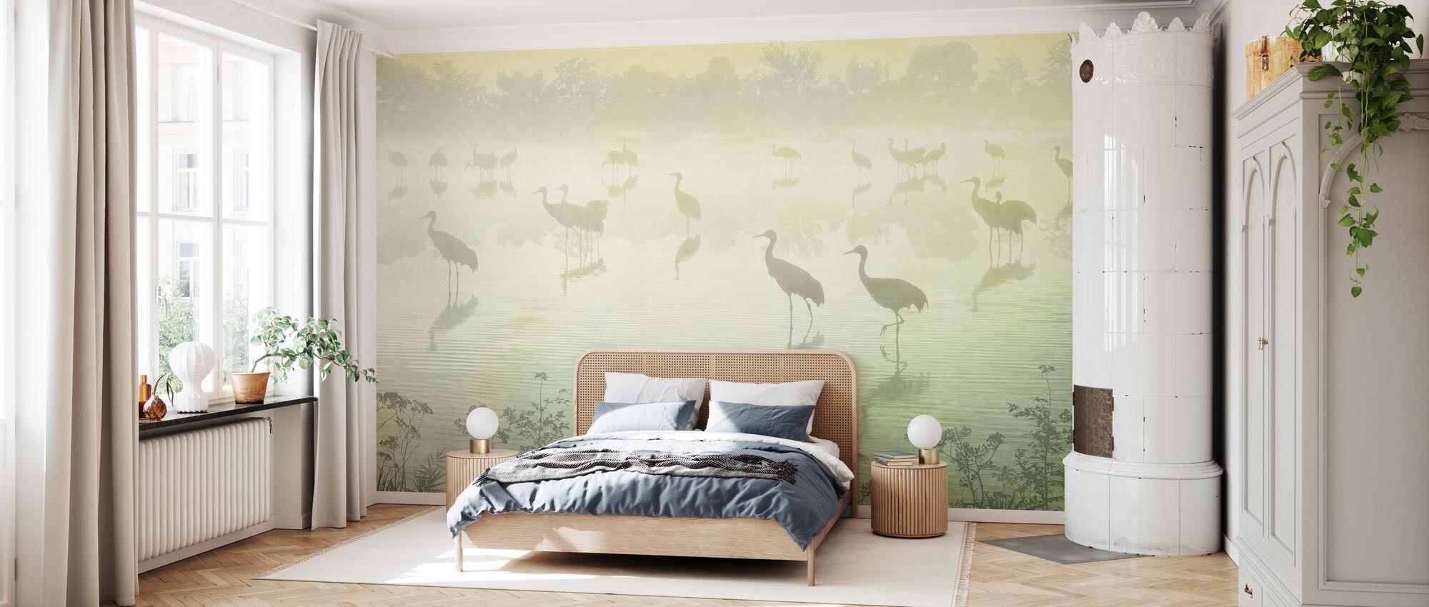 Flock at Dusk - Hazel - Wallpaper - Bedroom