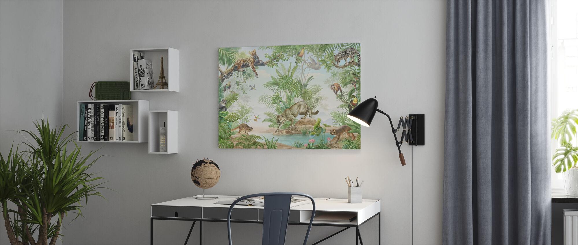 Jungle Hangout - Canvas print - Office
