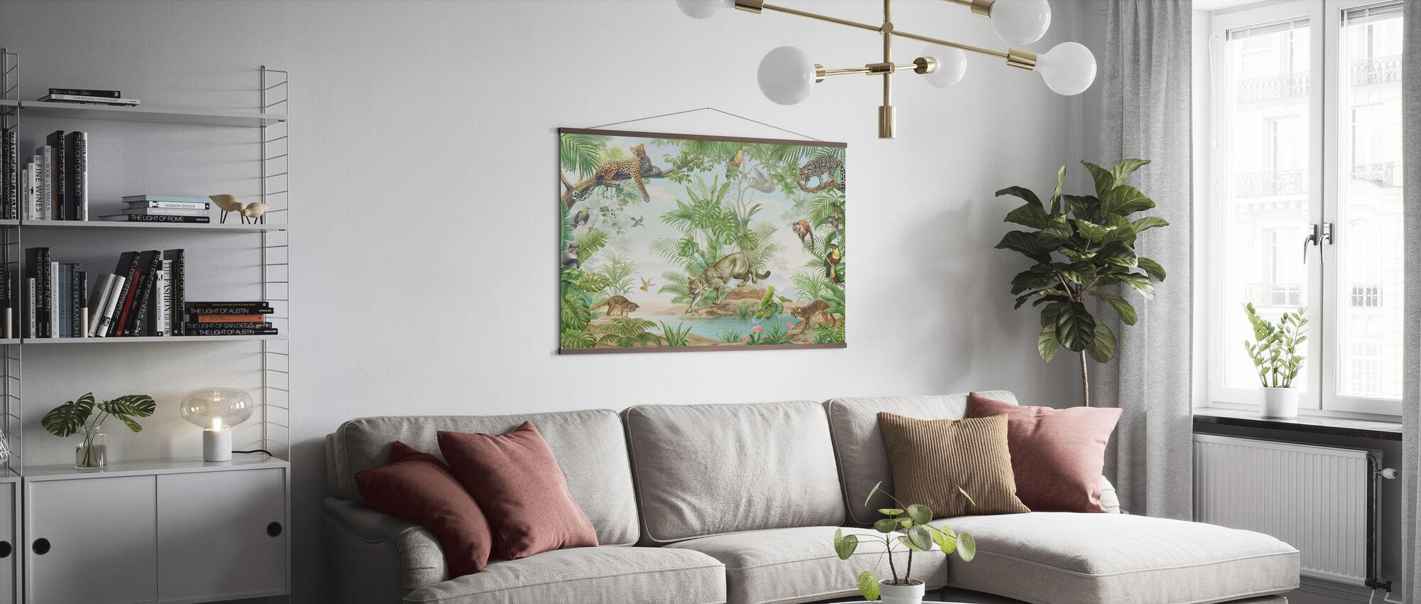 Jungle Hangout - Poster - Living Room