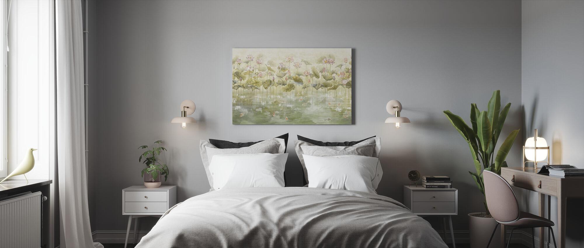 Koi Koi - Sepia - Canvas print - Bedroom