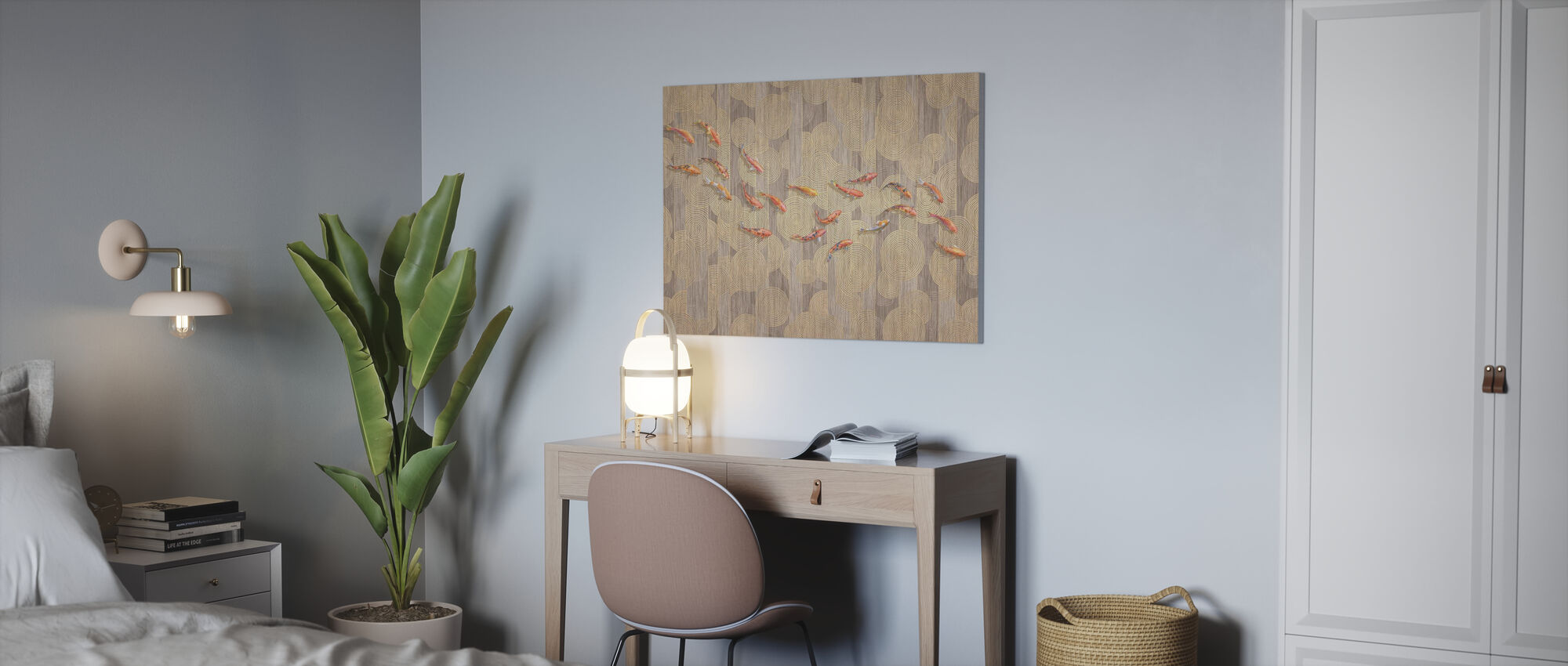 Moth Story - Canvas print - Office