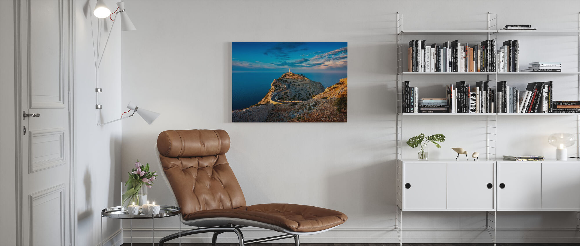 Lighthouse of Cap de Formentor - Canvas print - Living Room