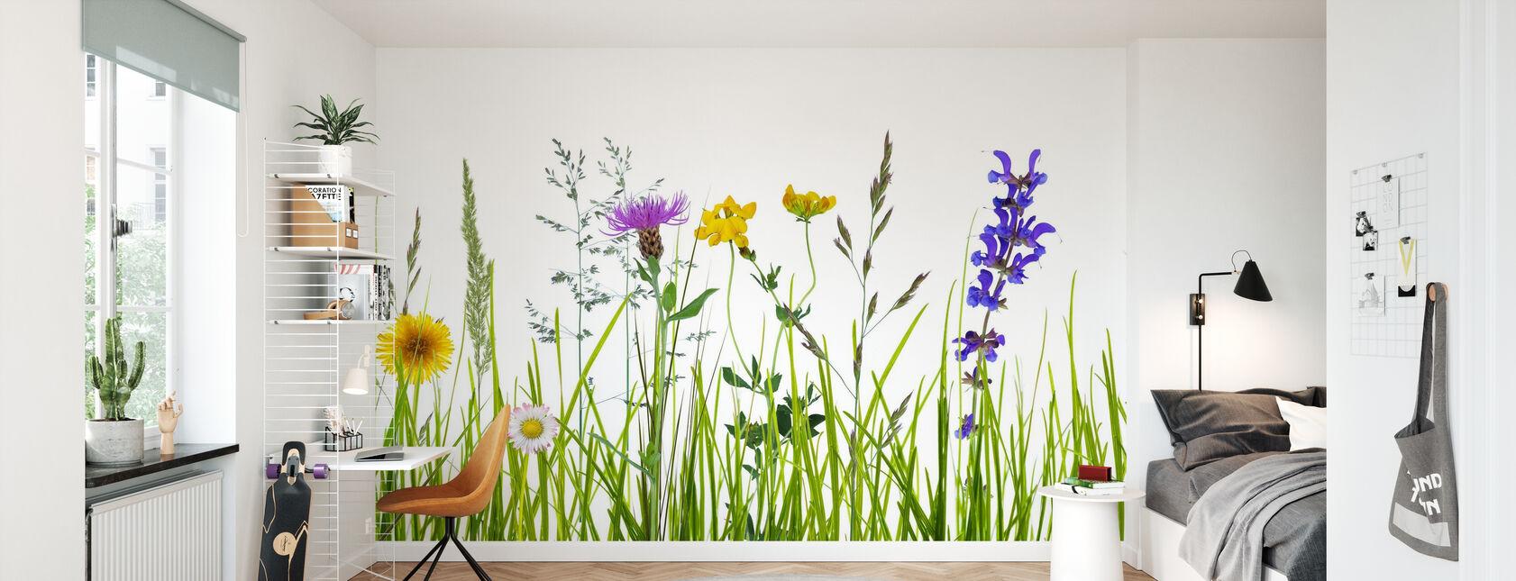 Wildflower Meadow - Wallpaper - Kids Room