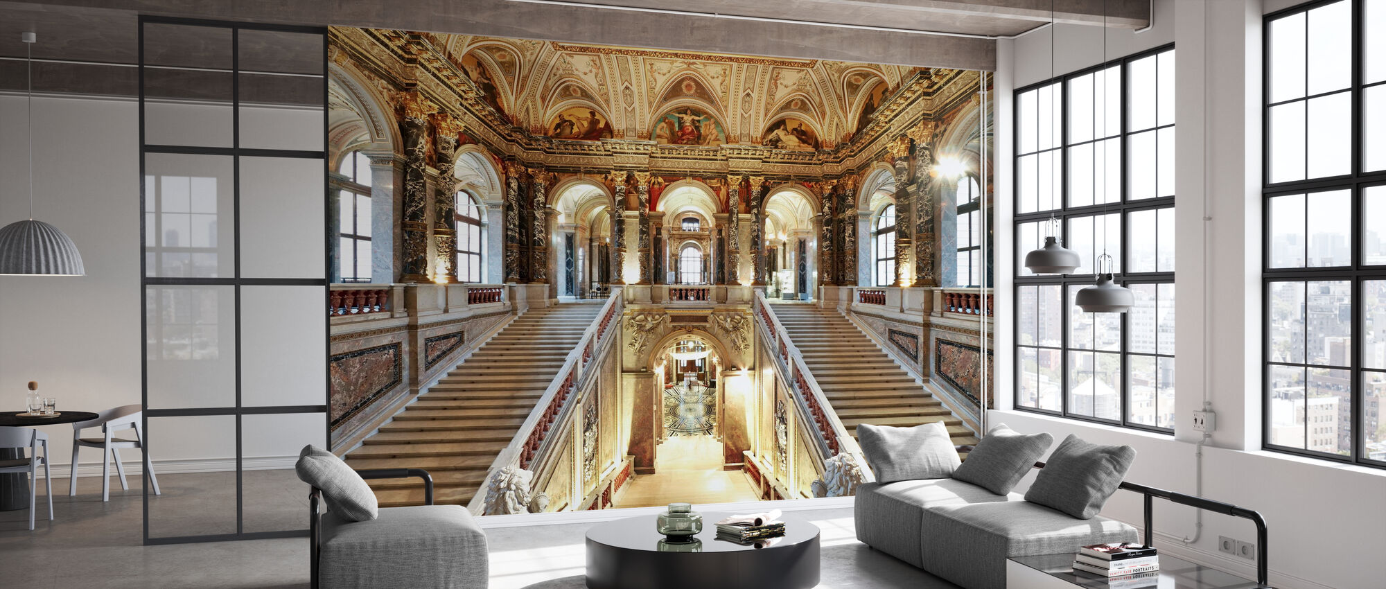 Palace Staircase - Wallpaper - Office