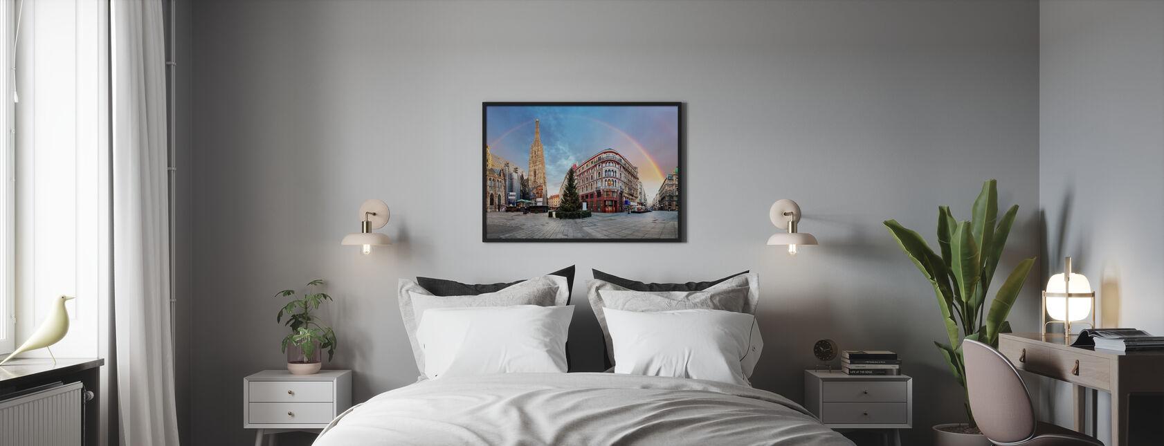 Wiener-pladsen med regnbue - Plakat - Soveværelse